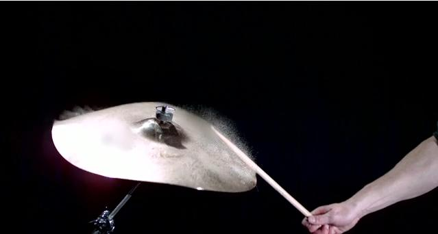 Viral Science: Cymbal At 1000 Frames PerSecond